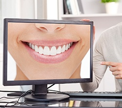 Smile photos on computer